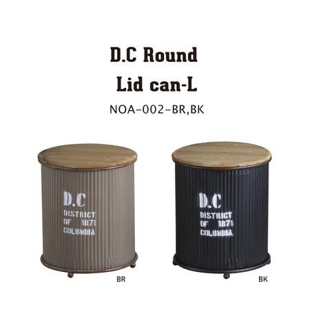 リッド缶 収納リッドカン【D.C・ラウンド・リッドカン・L】インtエリア収納 サイドテーブル ラウンドテーブル