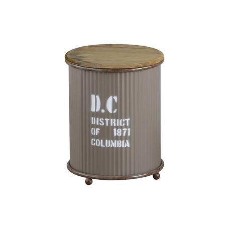 リッド缶 収納リッドカン【D.C・ラウンド・リッドカン・S】インtエリア収納 サイドテーブル ラウンドテーブル