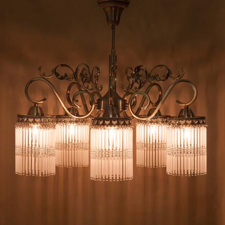 シーリングランプ【吊照明】クラシカルシーリングランプ[アンナマリア(5灯)]<E26/水雷型> ブロンズ ホワイト 送料無料