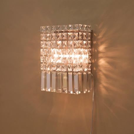 ウォールランプ[TUSU(2灯)]<E12/水雷型> 壁掛照明 クリスタルビーズ