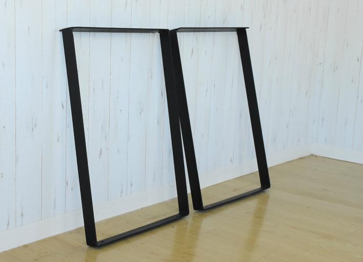 【送料無料】テーブル 脚 アイアン脚 2本セット テーブル用脚 DIY ブラック