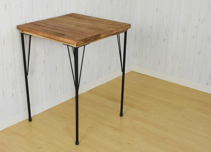 アウトレット 訳あり 古材テーブル ダイニングテーブル アンティークテーブル カフェテーブル 正方形 店舗テーブル 幅56