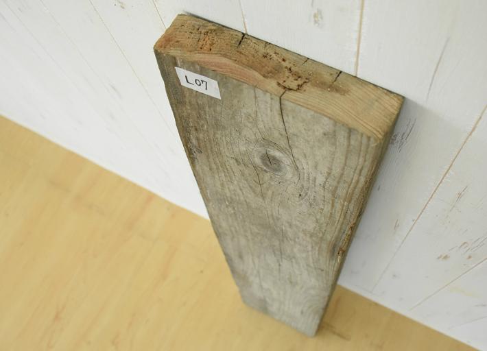 古材 テーブル 天板のみ 棚板 幅90 奥行20 厚み4.5 cm 足場板 古木 DIY アンティーク ヴィンテージ 天板 棚板 L-7