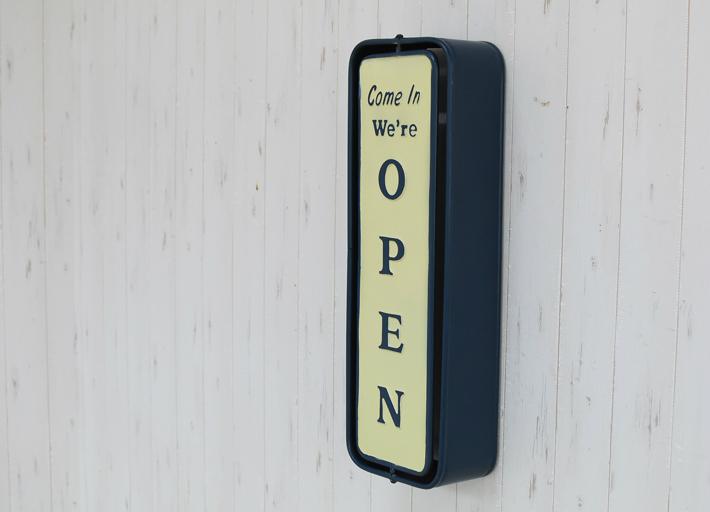 【送料無料】オープン クローズ OPEN/CLOSEサイン Wall mount spinner sign open-closed 店舗ディスプレイ 店舗看板