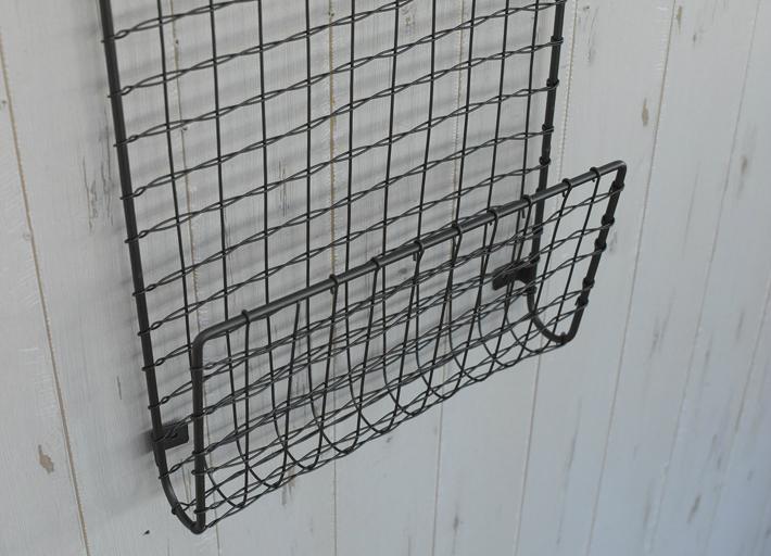 WIRE ハンギング ラック ヴィア(L)ウォールラック インテリア ディスプレイ 什器