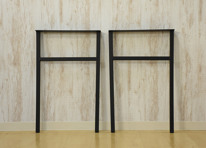 【送料無料】アイアン脚 2本セット ブラック 鉄脚 テーブル用脚 E-01
