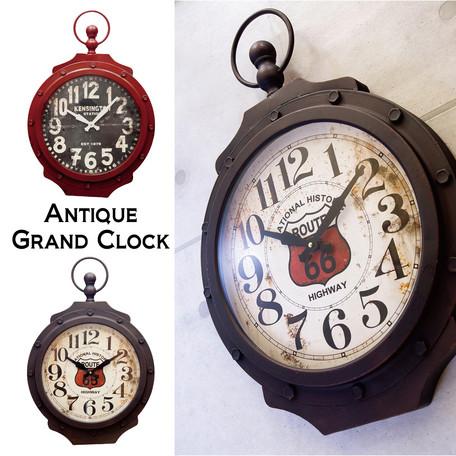 アンティーク クロック 壁掛け時計 アンティーク グランドクロック[ROUTE 66G / KENSINGTON G]<アメリカン雑貨