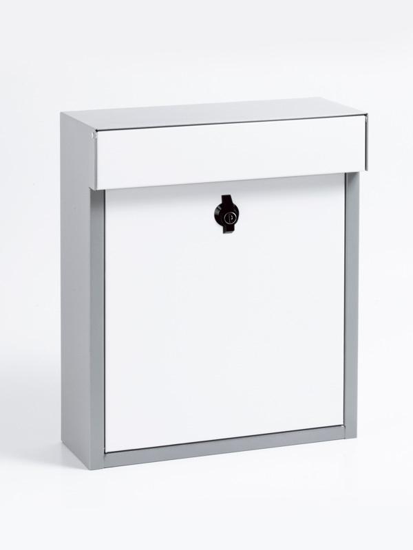 メールボックス グレー ホワイト バイカラーポスト グレー/ホワイト 郵便ポスト 壁掛けポスト