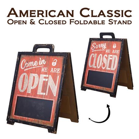 オープン クローズ アメリカン・クラシック[OPEN & CLOSED(フォルダブルスタンド)]両面タイプ