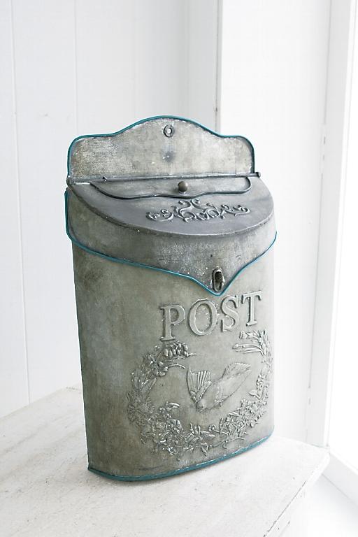 ブリキ メールボックス アンティーク調 ポスト 郵便ポスト 壁掛けポスト オールドブリキ・ポスト