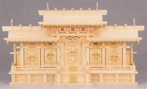 神棚 MK6099 マス組付五社 ヒノキ 神棚 神具 桧 檜 国産 日本製 通販 和室 和風 送料無料 最安値に挑戦