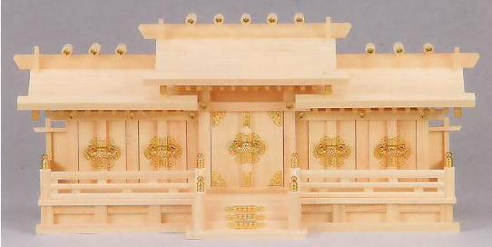 神棚 MK6142 新寸違い五社 ヒノキ 神棚 神具 桧 檜 国産 日本製 通販 和室 和風 送料無料 最安値に挑戦
