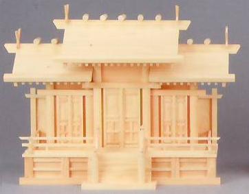 神棚 MK6114 唐戸三社(大) ヒノキ 神棚 神具 桧 檜 国産 日本製 通販 和室 和風 送料無料 最安値に挑戦