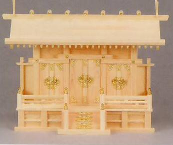 神棚 MK6120 通し屋根三社(大) ヒノキ 神棚 神具 桧 檜 国産 日本製 通販 和室 和風 送料無料 最安値に挑戦