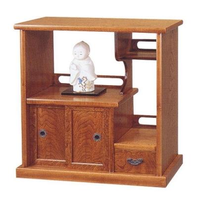 民芸飾棚 FK574 萩 国産 日本製 飾棚 飾り棚 置床 置き床 サイドボード 和風 和室 通販 送料無料 最安値に挑戦