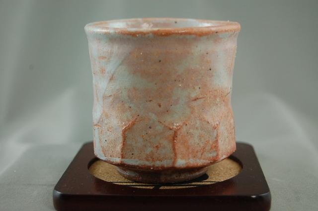 陶芸作家 荒川明作 御本手 湯のみ byu-39 木箱付き こだわりのギフト 定年 還暦 母の日 祝いなどの 贈り物に最適 fs04gm