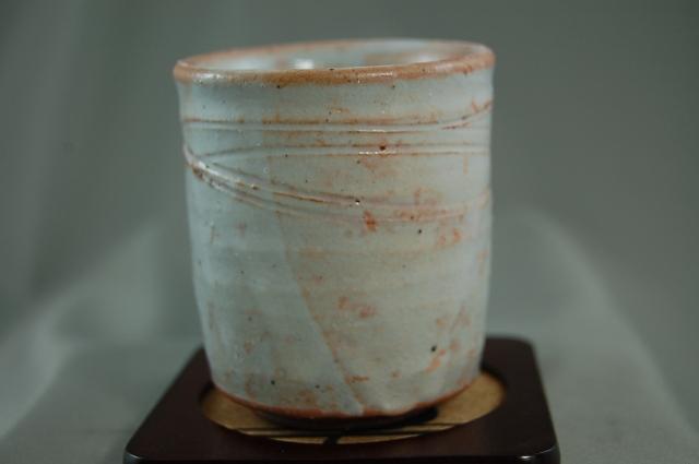 陶芸作家 荒川明作 御本手 湯のみ byu-41 木箱付き こだわりのギフト 定年 還暦 母の日 祝いなどの 贈り物に最適 fs04gm