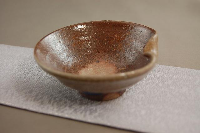 dgu-40 陶芸作家 荒川明作 焼締 ぐいのみ おちょこ 木箱付き こだわりのギフト 還暦祝いなどの 贈り物に最適 送料無料