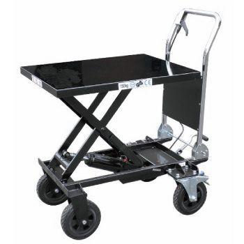 油圧式テーブル運搬車 180kg 【大車輪テーブル幅広タイプ】