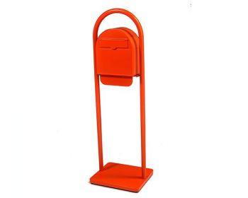 100%品質 オレンジ:ネットショップ土岐店 ヨーロピアン郵便ポスト アーチスタンド・自立ベースセット-エクステリア・ガーデンファニチャー