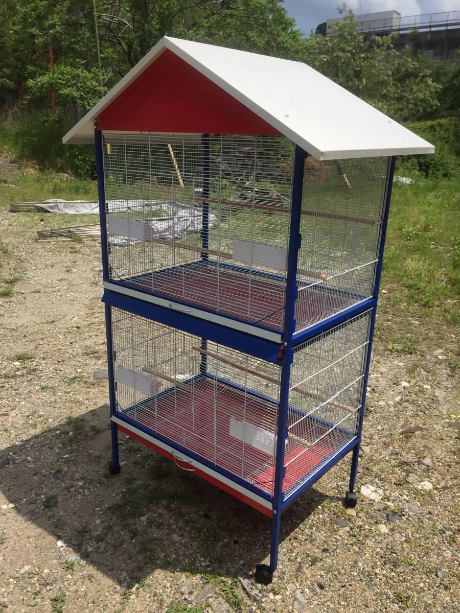 2部屋式 大型鳥かご オウム ヨウム 大型インコ用 バードゲージ  鳥籠 【05P17Mar20】