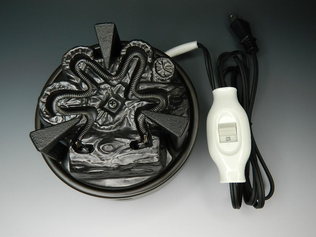 茶道具 YU003 遠赤外線 炭型ヒーター 電熱器【風炉用】 五徳あり ヤマキ電器 ON/OFFスイッチ付き 御園棚、末広棚、銀瓶や鉄瓶にもお使いいただけます