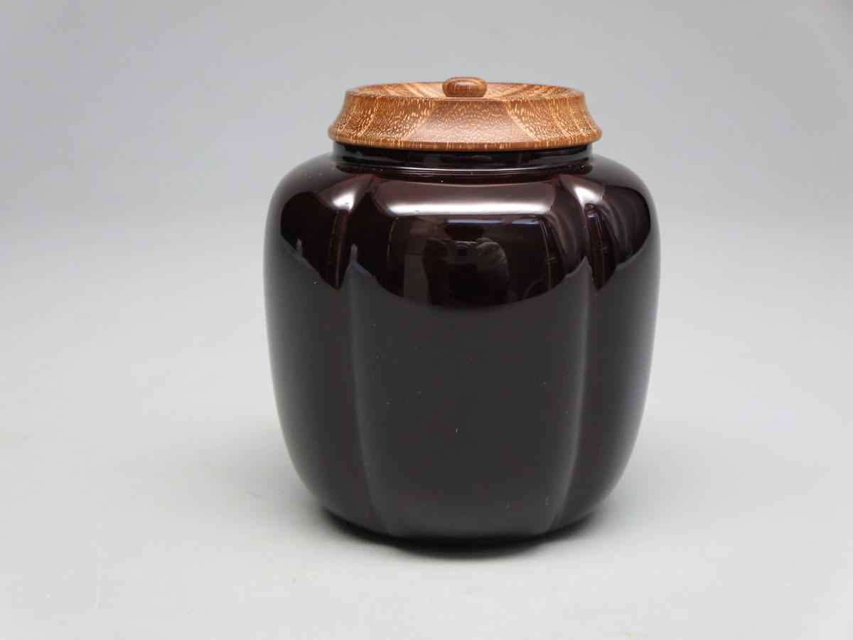【茶道具/なつめ茶器】 阿古陀茶器 山中塗 桑蓋