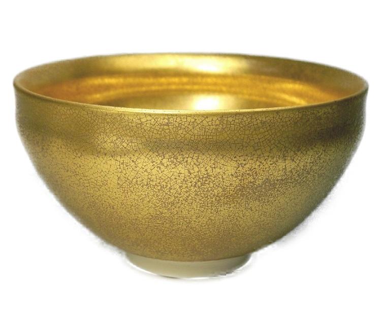 送料無料 【茶道具/天目茶碗】 黄金天目茶碗 黄金の天目茶碗 新品