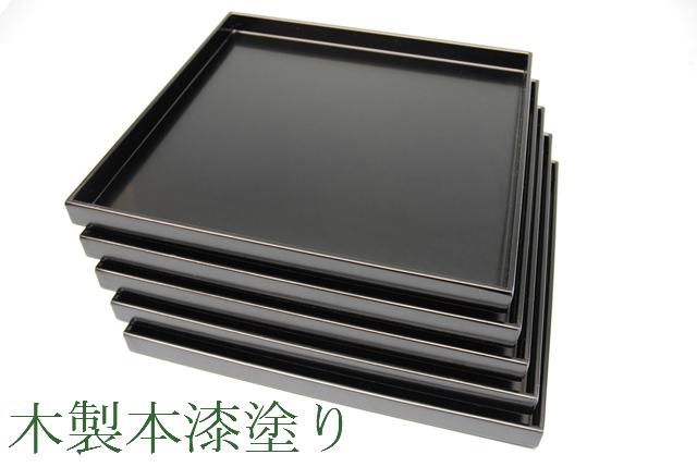 【茶器/茶道具・懐石道具】 懐石膳 5客 本漆手塗り 木製