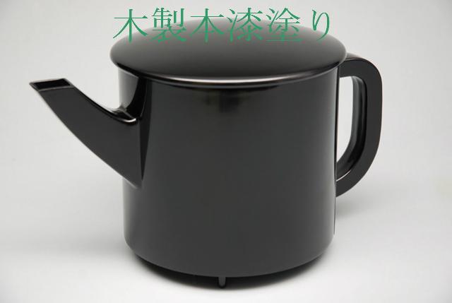 【茶器/茶道具・懐石道具】 湯桶 本漆手塗り 木製