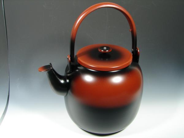 【茶道具・水次】腰黒薬缶(腰黒やかん)  蓋付きタイプ