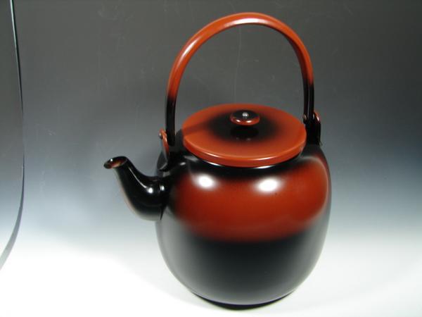【茶道具・水次】腰黒薬缶(腰黒やかん)  蓋無しタイプ