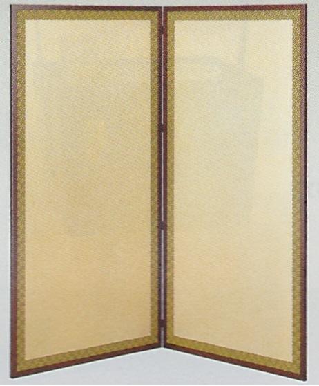【茶道具 水屋道具/水屋屏風】金梨地・利休梅両面使い水屋屏風 二枚折