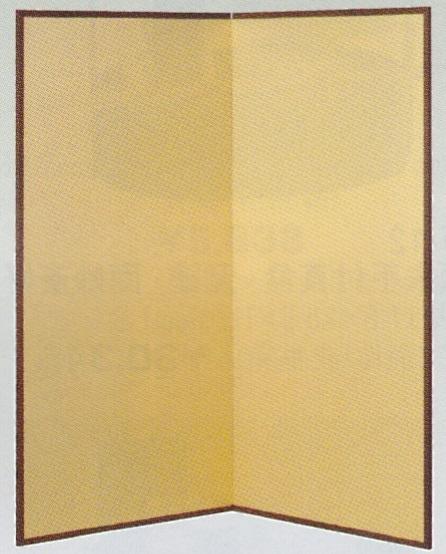 【茶道具 水屋道具/水屋屏風】金梨地・紙丁番 水屋屏風 二枚折