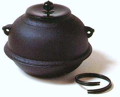 【茶道具】 錆びない釜 志きの真形釜(しんなりかま)釜 K705 風炉釜 茶釜 風炉用 日本製 新品