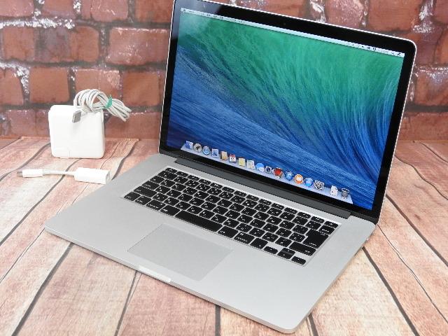 【中古】 Bランク Apple MacbookPro Late 2013 i7 SSD512G 16G Retina搭載 15.4