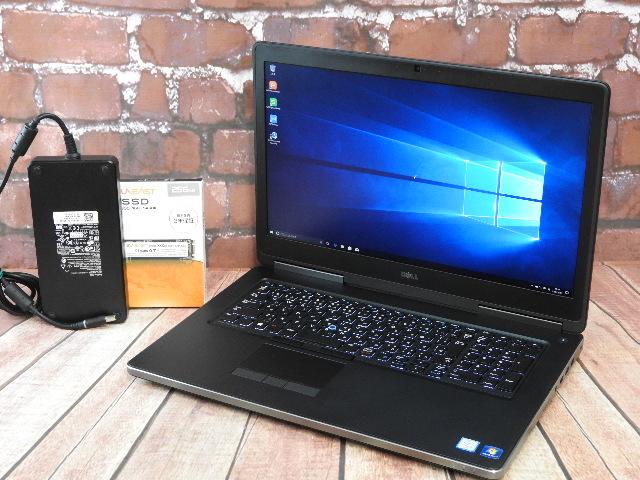 【中古】 Aランク Dell Precision 7710 i7 6820HQ Quadro M3000M 搭載 FHD液晶ハイスペック機