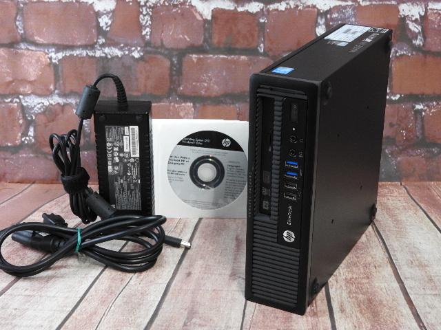 【中古】 Aランク HP Elite Desk 800G1 US 第四世代 i5 搭載 ウルトラスリムデスクトップPC Win10