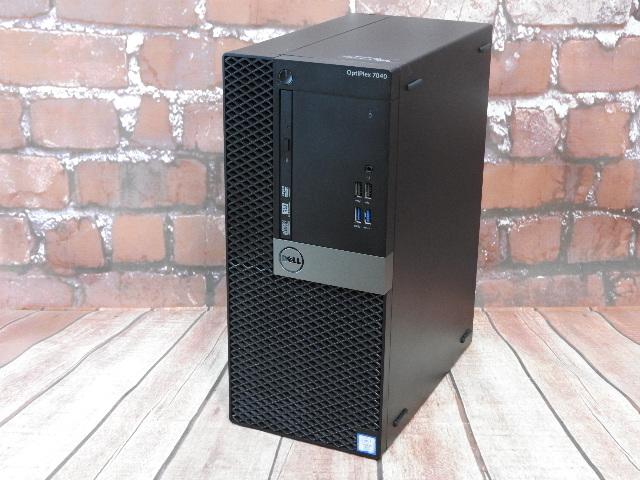 【中古】 Aランク Dell OptiPlex 7040MT 第六世代 i7 6700 SSD+HDD メモリ16G搭載 Win10