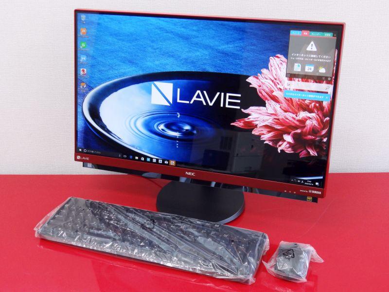 【】Aランク 23.8型ワイドFullHD液晶 Wチューナー地デジ搭載 DA770/HAR 第7世代Core i7 7500U 16GB 新品SSD1TB BD Windows10