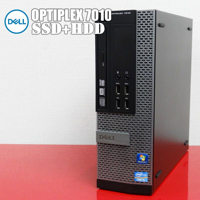 【中古】Dell デスクトップパソコン 高速新品SSD+大容量HDD搭載 WPS Office付属 Optiplex7010 第3世代 Core i5 メモリ4GB Windows10Pro