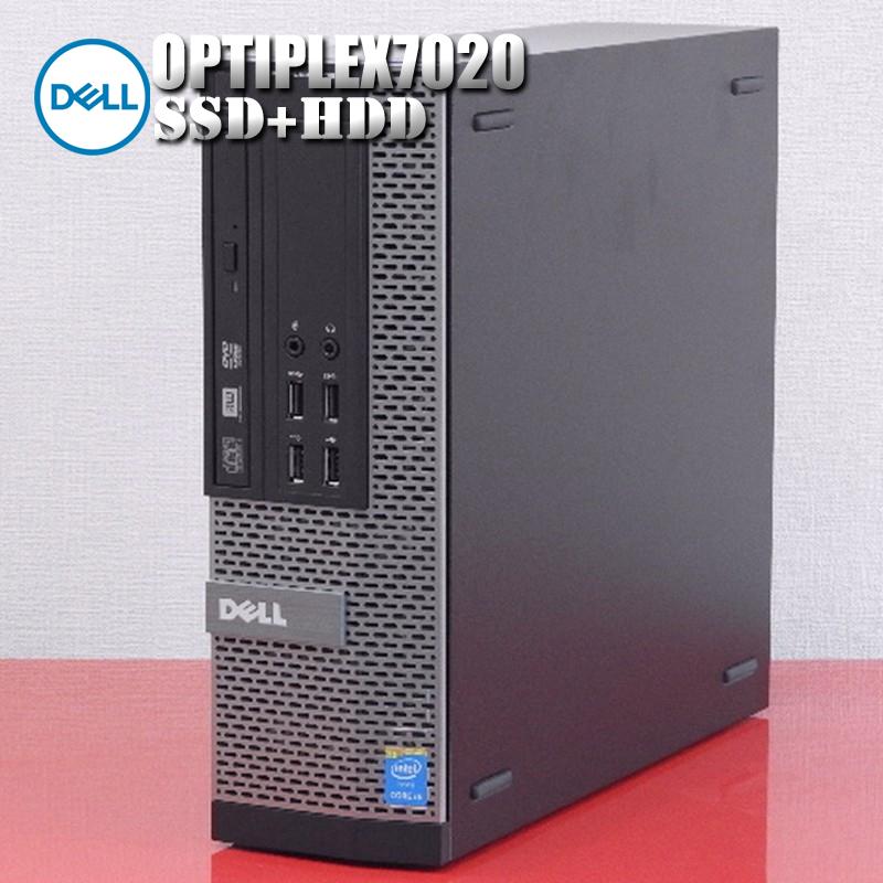 【中古】Prime Reborns Dell デスクトップパソコン Optiplex7020 第4世代 Core i5 CPU メモリ8GB 高速新品SSD+大容量HDD Windows10Pro WPS Office付属
