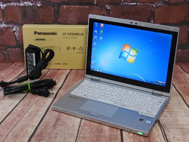 【中古】 Aランク Panasonic lets CF-RZ5ADDKS m5搭載 極軽量可変タブレット 稼働1110時間 バッテリー新品