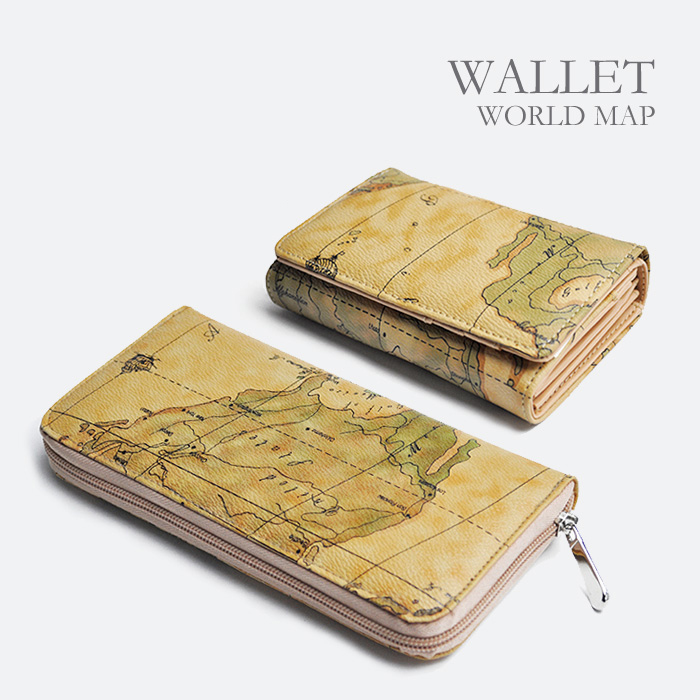 Auc Tokutoku Orbe Voyage Orbey Voyage World Map Purse World Maps