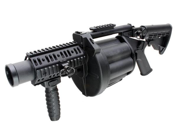 あす楽対応!!ICS・MGL140タイプリボルバーランチャーICS-190・BKブラック