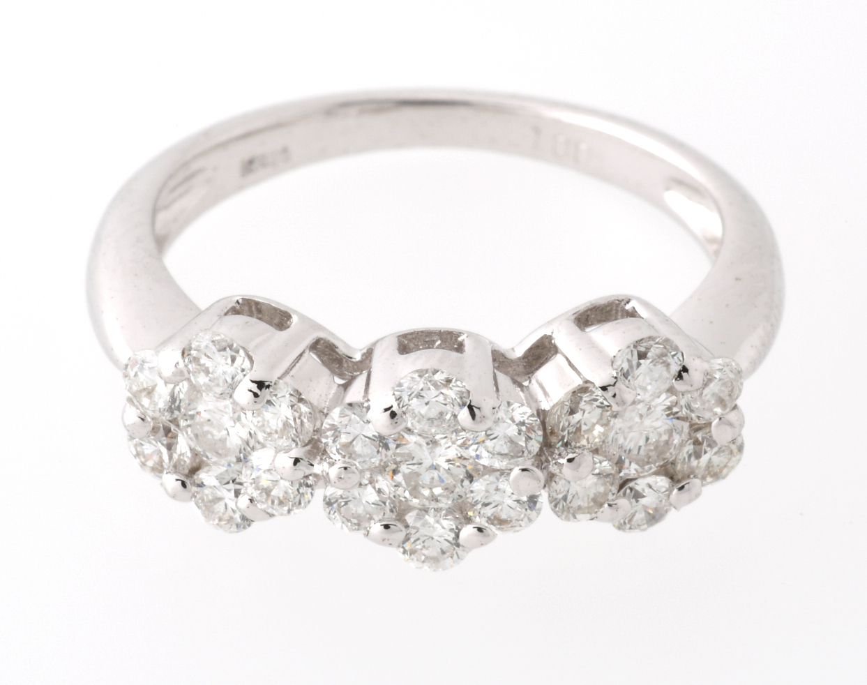 750(K18WG)ダイヤモンド リングD=1.00ct# 11◆未使用◆