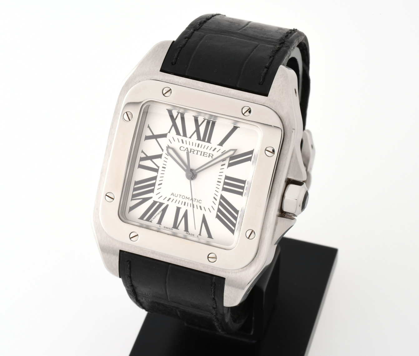 Cartier カルティエ 紳士用腕時計 サントス100 LM W20073X8 SS 自動巻 【中古】
