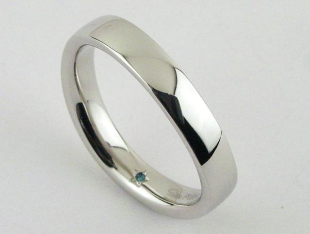 スタージュエリー Pt950 マリッジリング Wave Marriage 2PR0221 #17 ◆未使用◆
