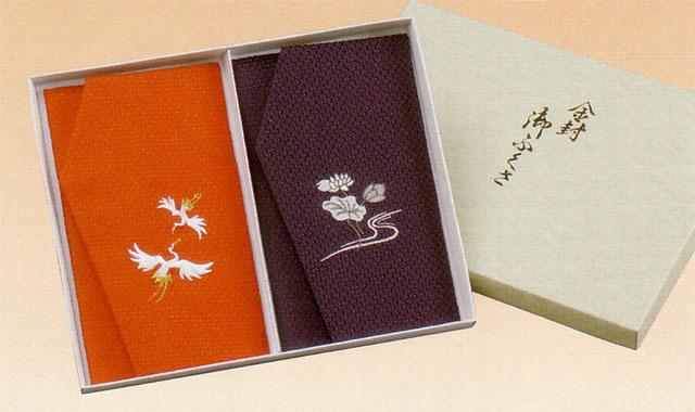 かのこ織刺繍金封ふくさを慶弔セットにしました ふくさ かのこ織刺繍金封ふくさ 慶弔セット