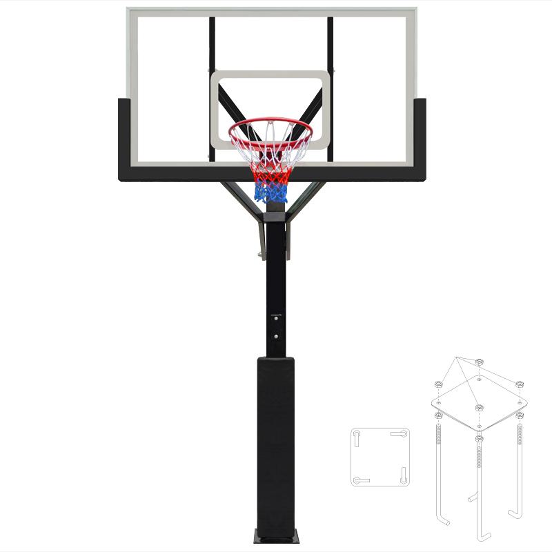 超大型埋込式バスケットゴール:TO29
